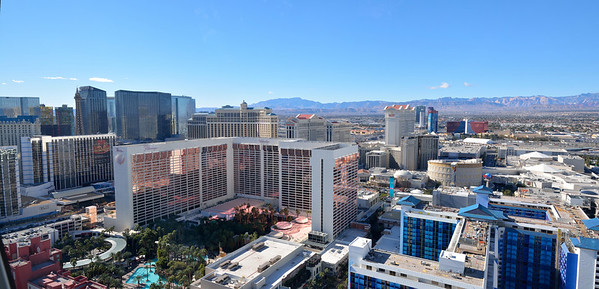 "Here's a mini-panorama close to the ""summit"" of the High Roller."